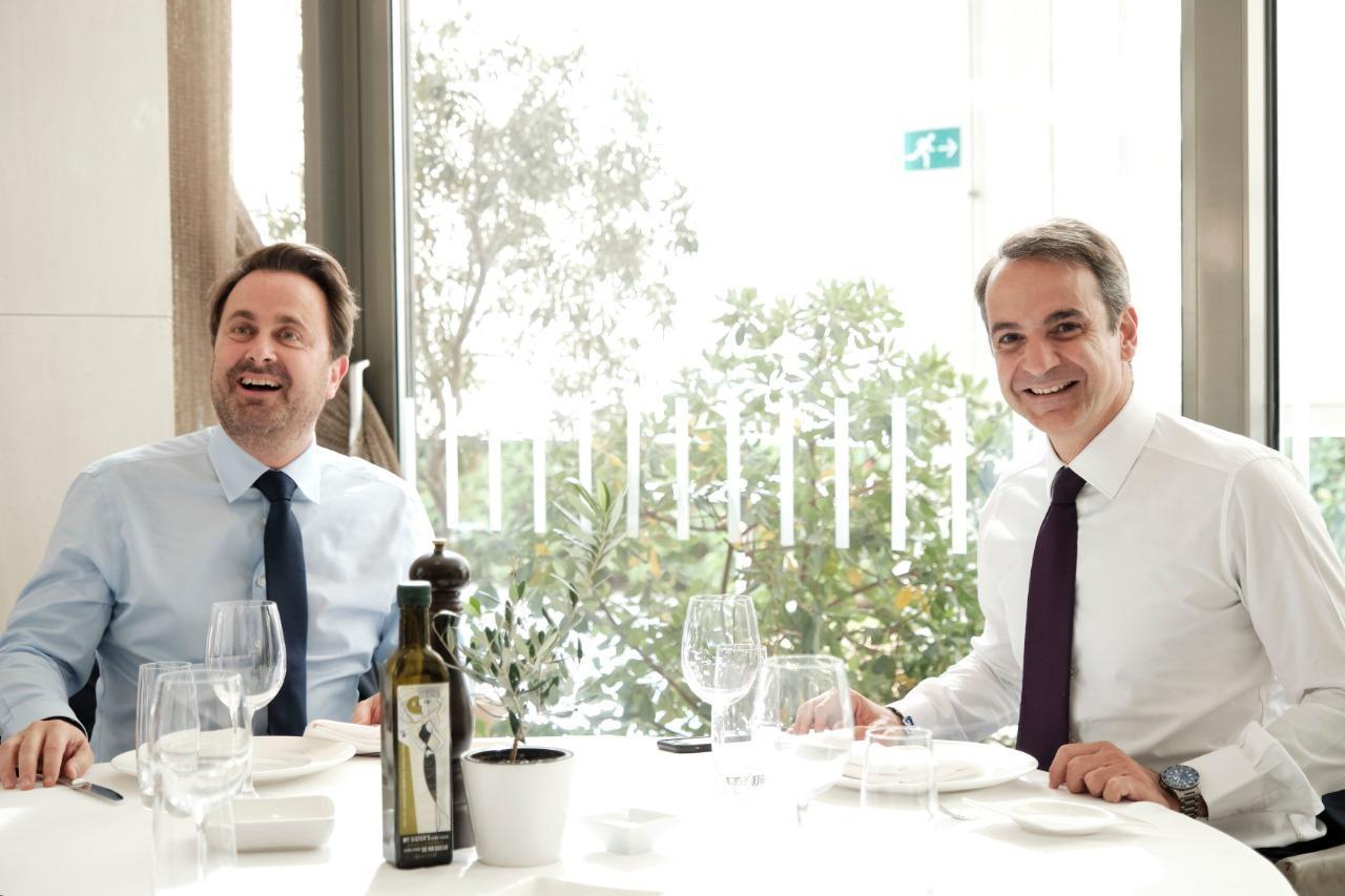 Kyriakos Mitsotakis met with Xavier Bettel