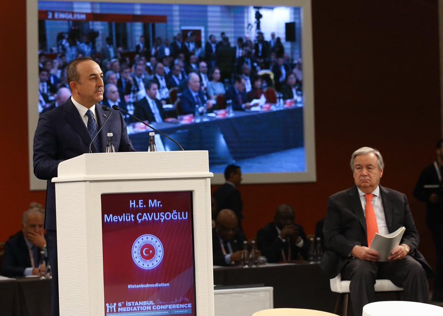 """Cavusoglu: """"Peace at home, Peace in the world"""" is a necessity"""