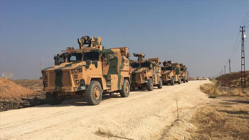Turkish and Russian soldiers conducted their first joint patrol in N. Syria