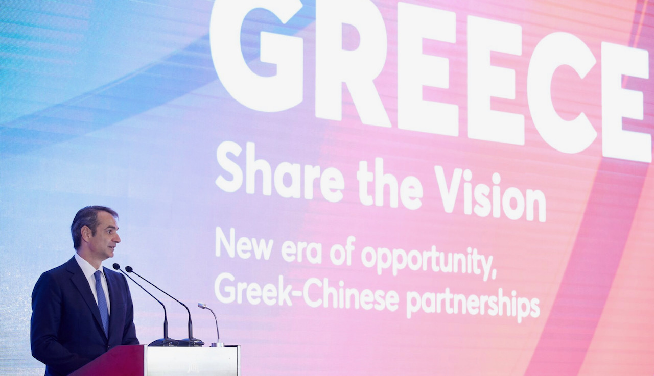 """Mitsotakis calls on Chinese businessmen to make Greece a """"success story"""""""