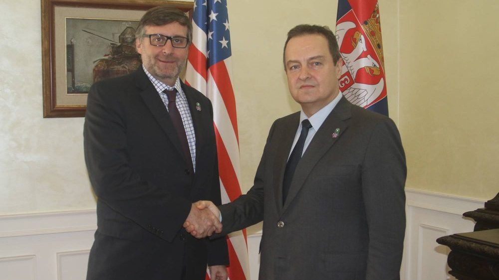 Dacic and Palmer reiterated the need for dialogue to resume