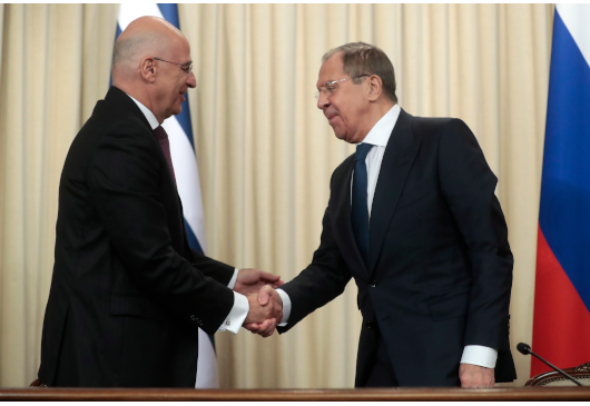 Everything on the table at the Dendias – Lavrov meeting