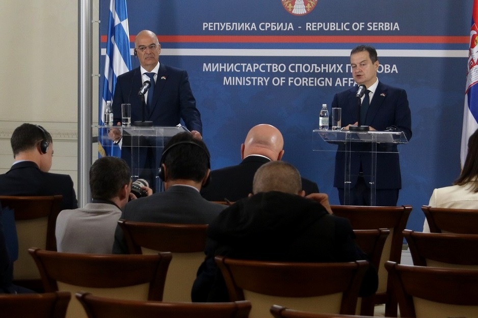 """Dendias: """"Our position on Kosovo will remain unchanged until a final agreement is reached"""""""