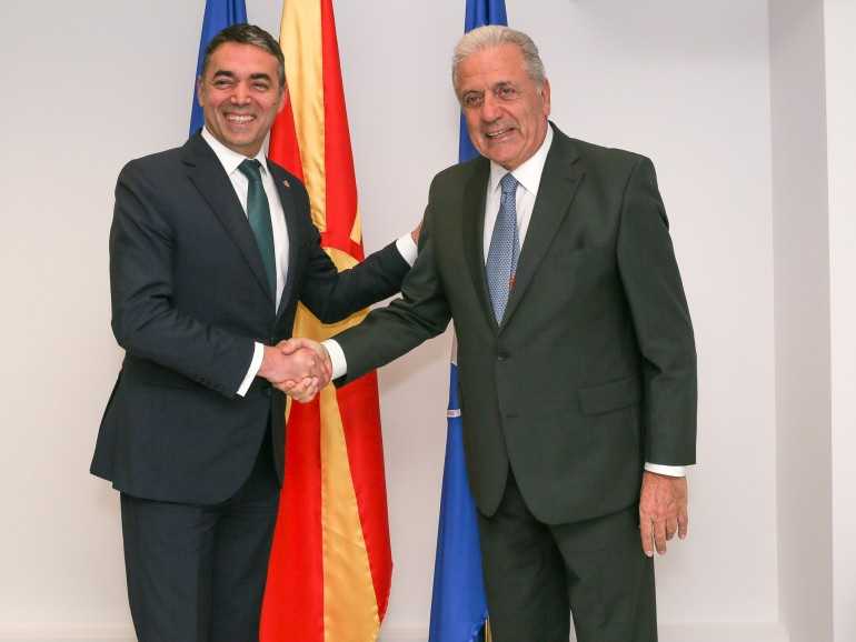 Dimitrov met with Avramopoulos