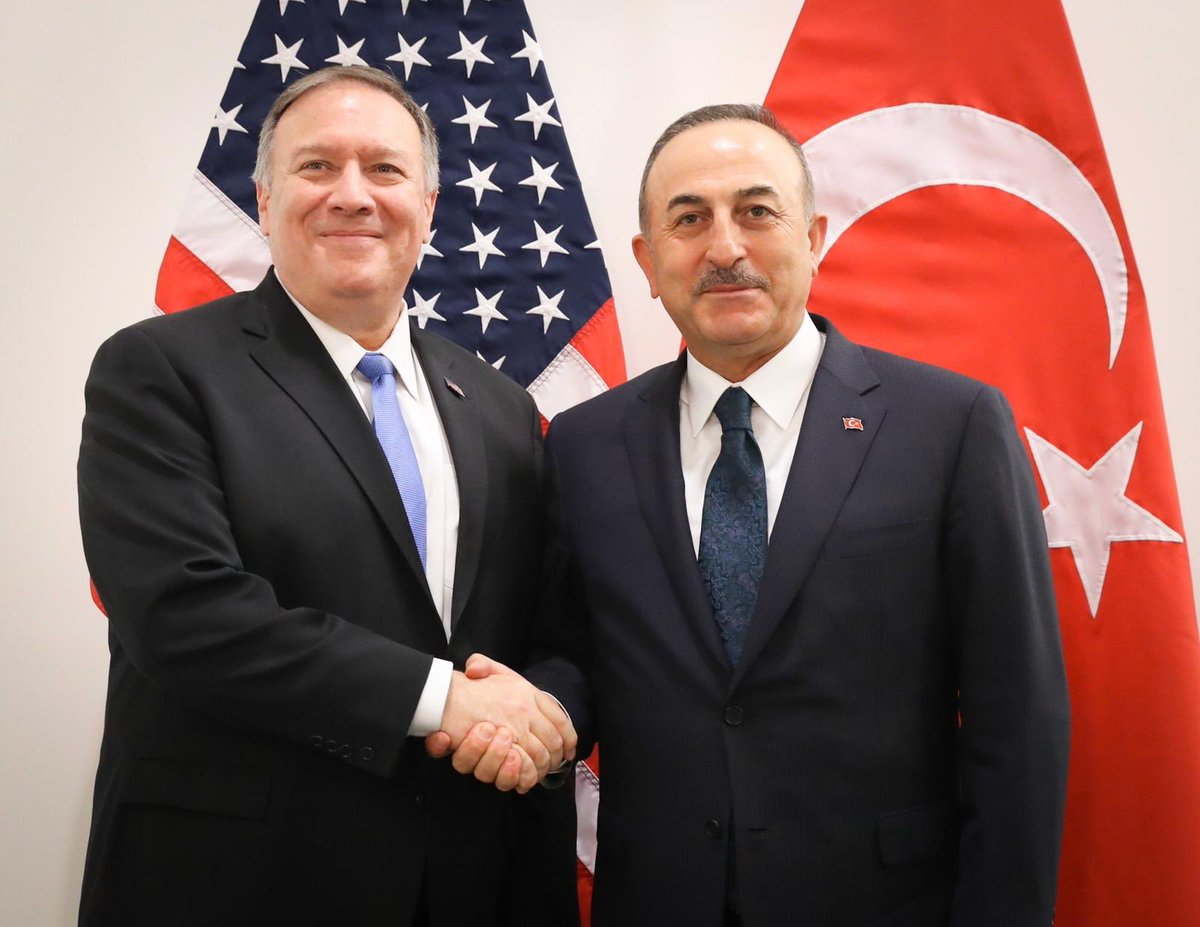 Cavusoglu met with Pompeo while in Brussels