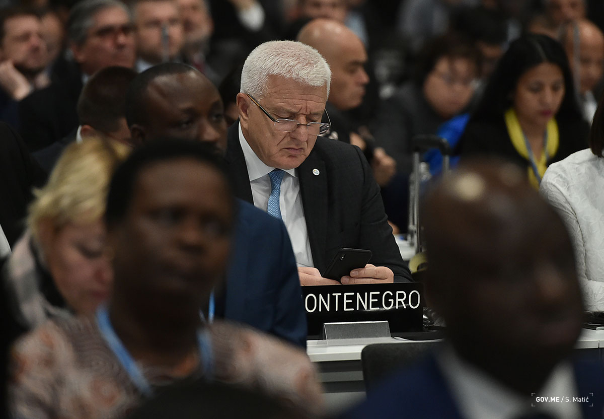Marković in Madrid for the conference on climate change