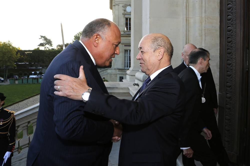 Shoukry, Le Drian have telephone conversation with references to Libya