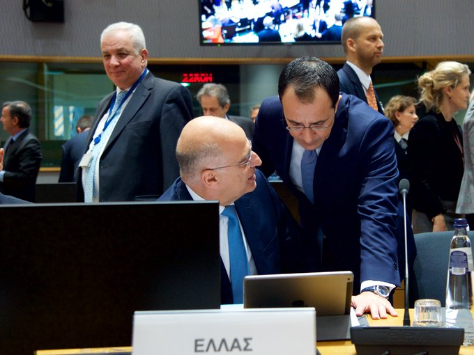 Dendias highlighted the provocations of Turkey at the EU FAC