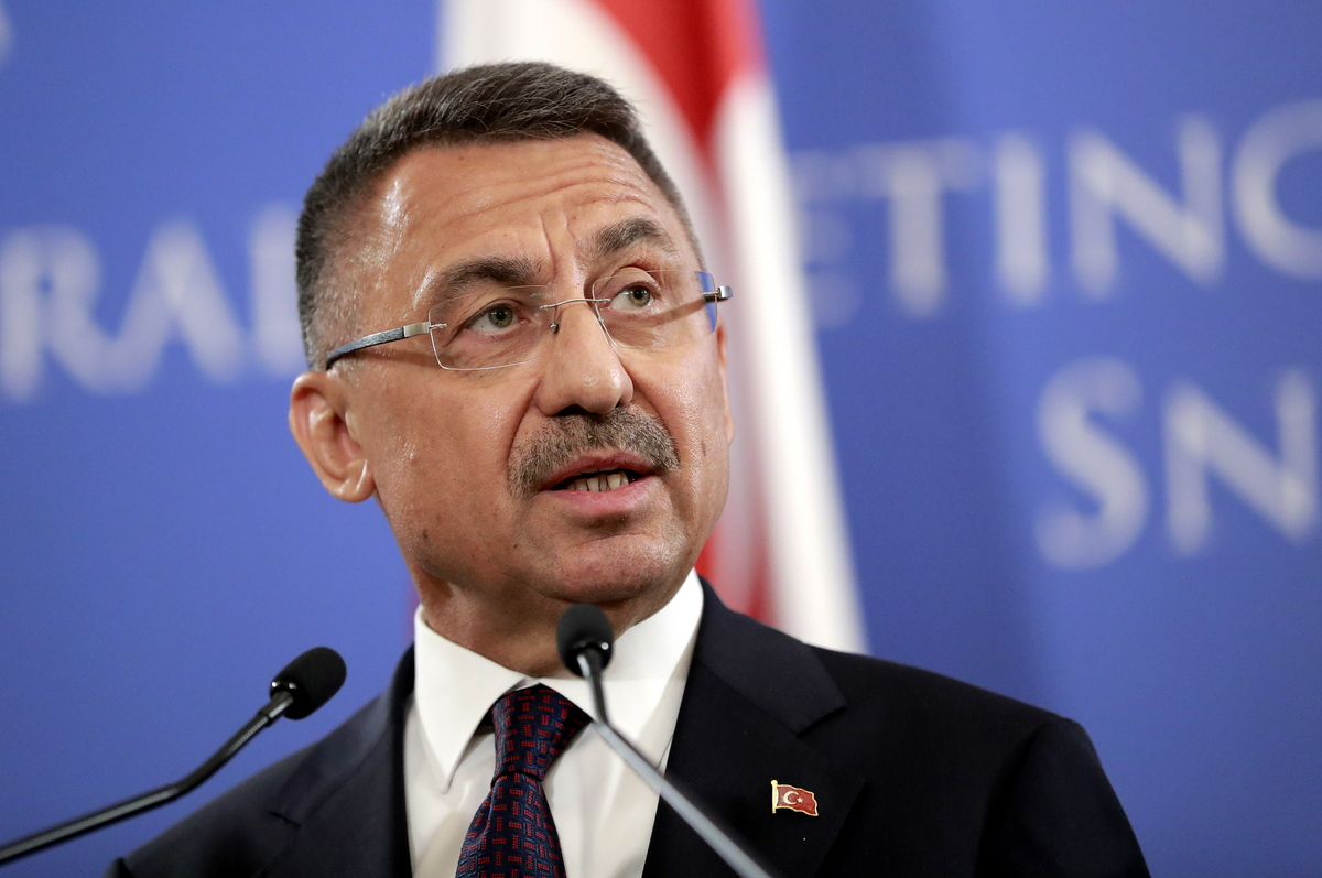 """Fuat Oktay: """"If necessary, we will conduct drilling or military operations to protect our interests"""""""