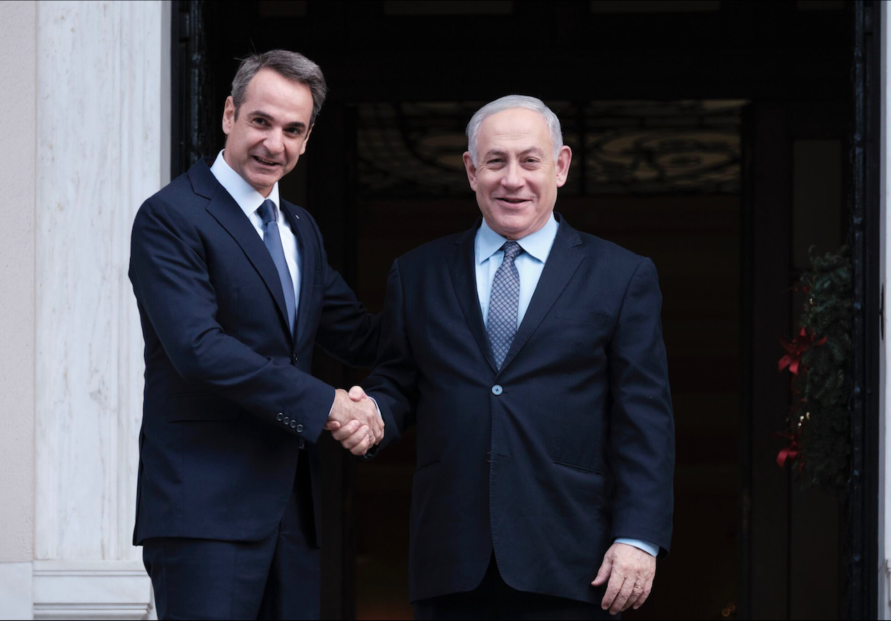 Mitsotakis-Netanyahu meeting before the signing of EastMed
