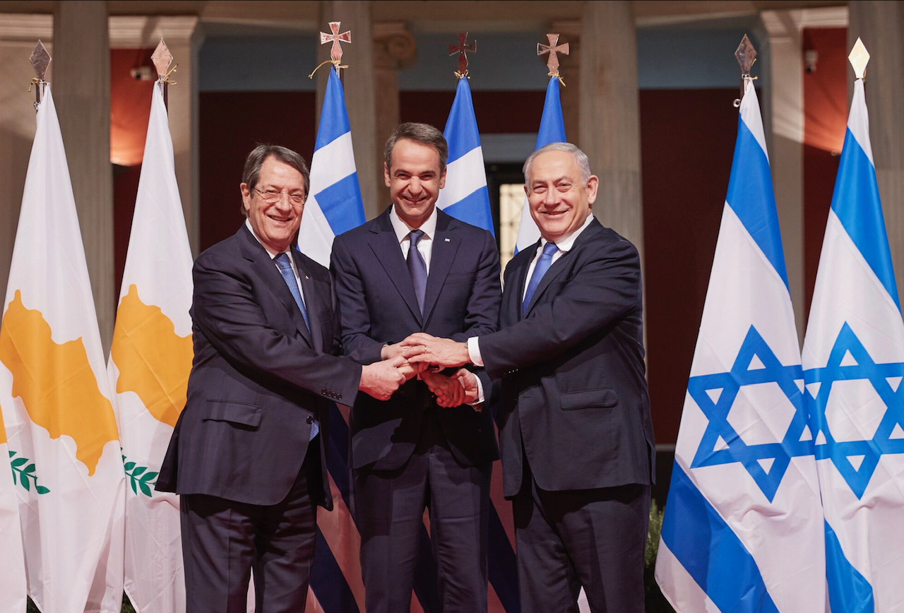 Greece, Cyprus, Israel sign the EastMed Interstate Agreement