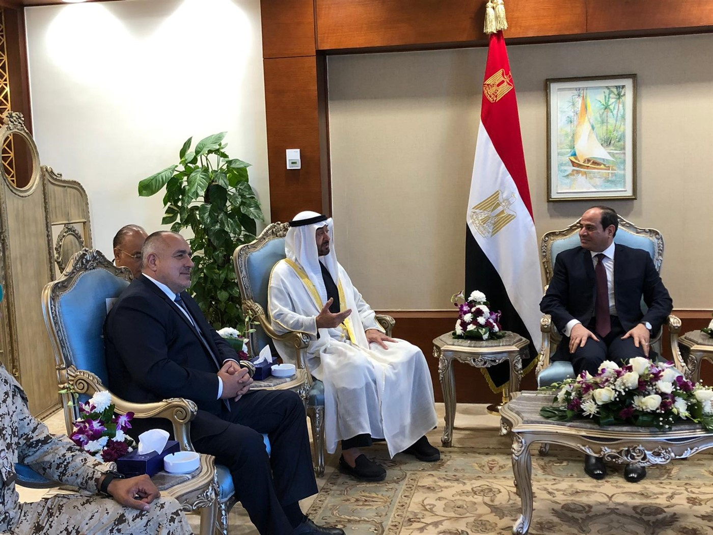 Borissov met with Sisi in Cairo
