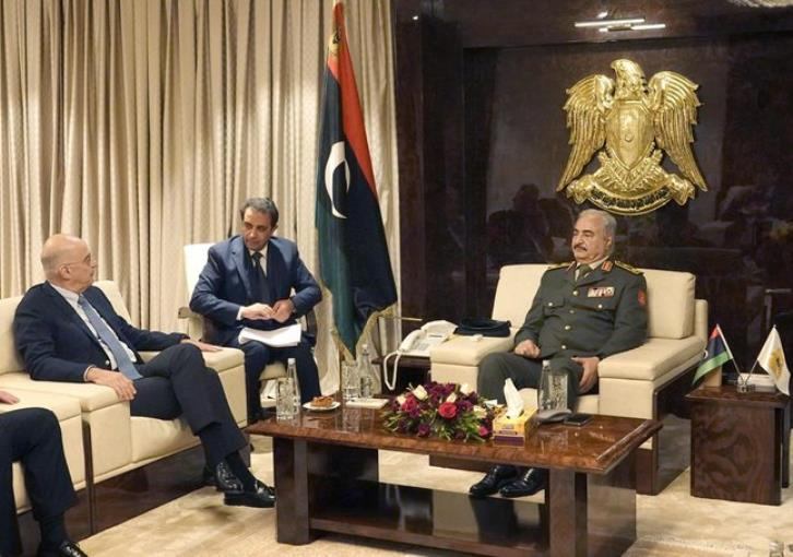 Haftar in Athens to meet with Mitsotakis and Dendias