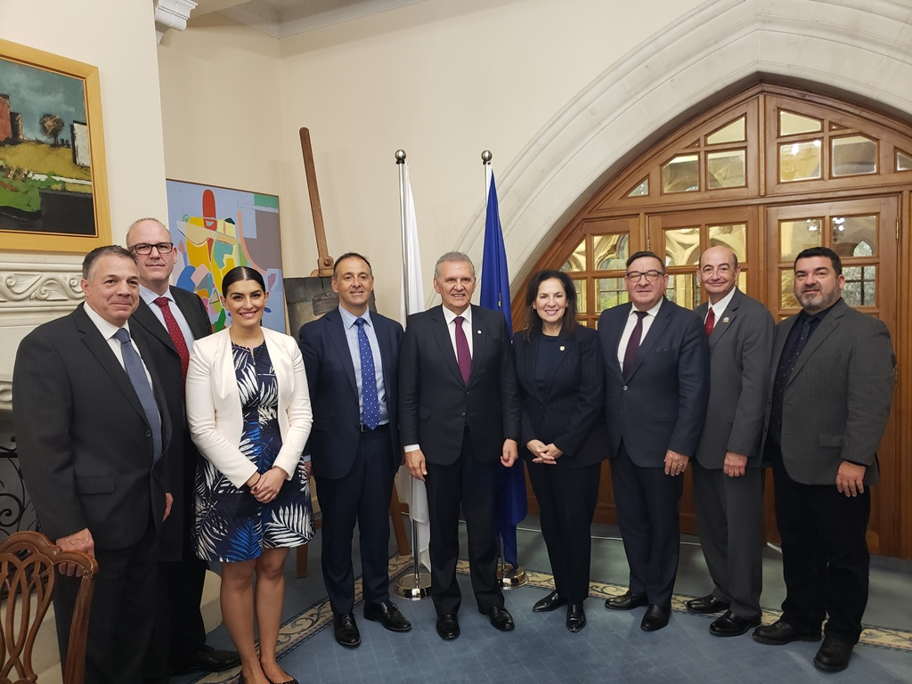 Cypriot Presidency Commissioner met with the President and board members of the World Hellenic Inter-Parliamentary Association