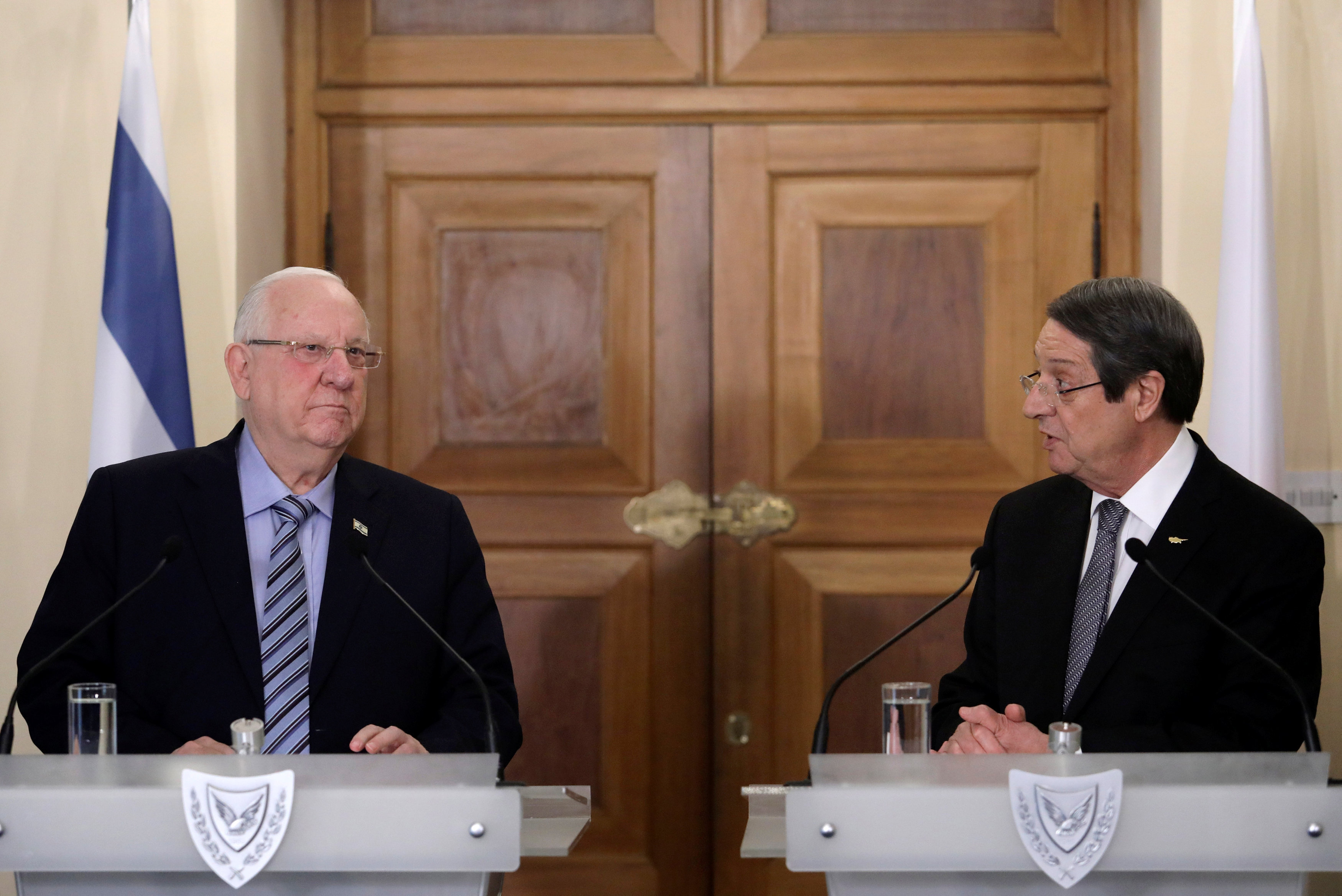 Anastasiades met with the President of Israel