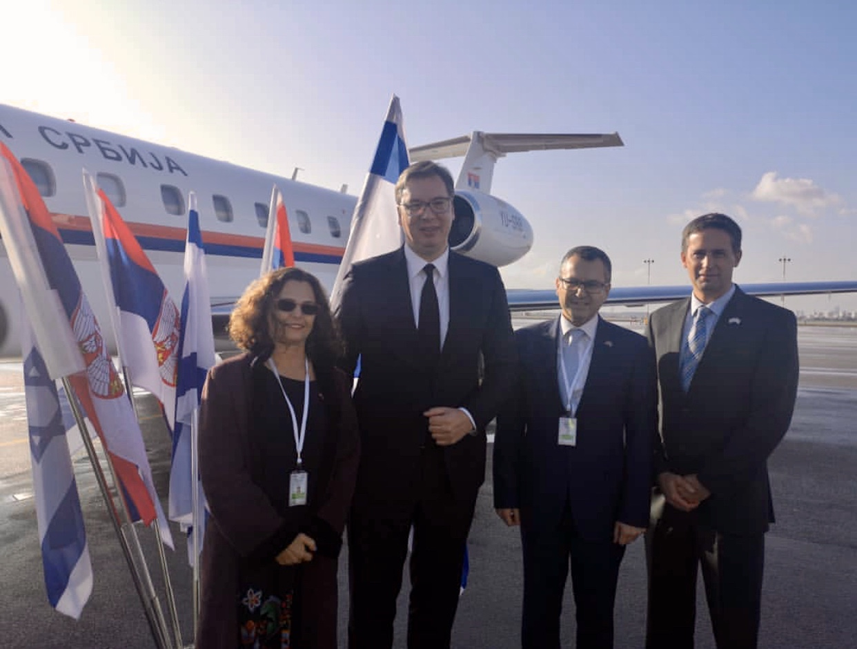 Vucic arrives in Jerusalem to attend the World Holocaust Forum