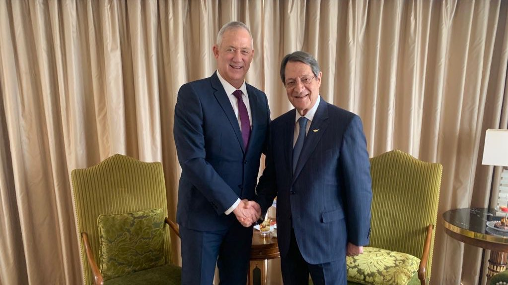 Anastasiades met with Israeli main opposition leader Benny Gantz
