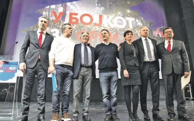 Serbia: Main opposition officially kicks off boycott against the elections