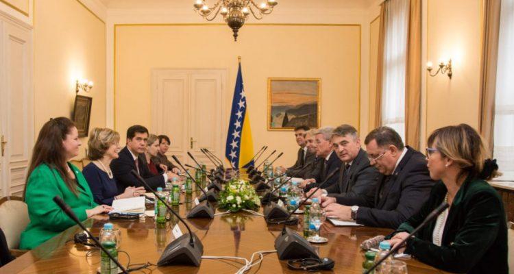 BiH Presidency members met with deputy USAID director Bonnie Glick