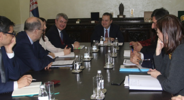 Dacic meets with Italian Ambassador in view of the Italian Foreign Minister's visit