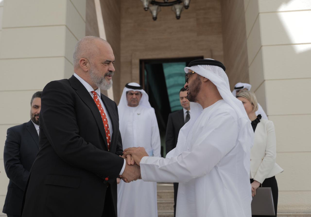 Edi Rama on an official visit to the UAE for the Reconstruction and Donors Conference