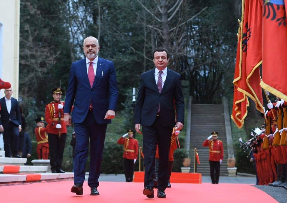 Rama: Our aim is to speed up the Albania-Kosovo co-operation in all areas