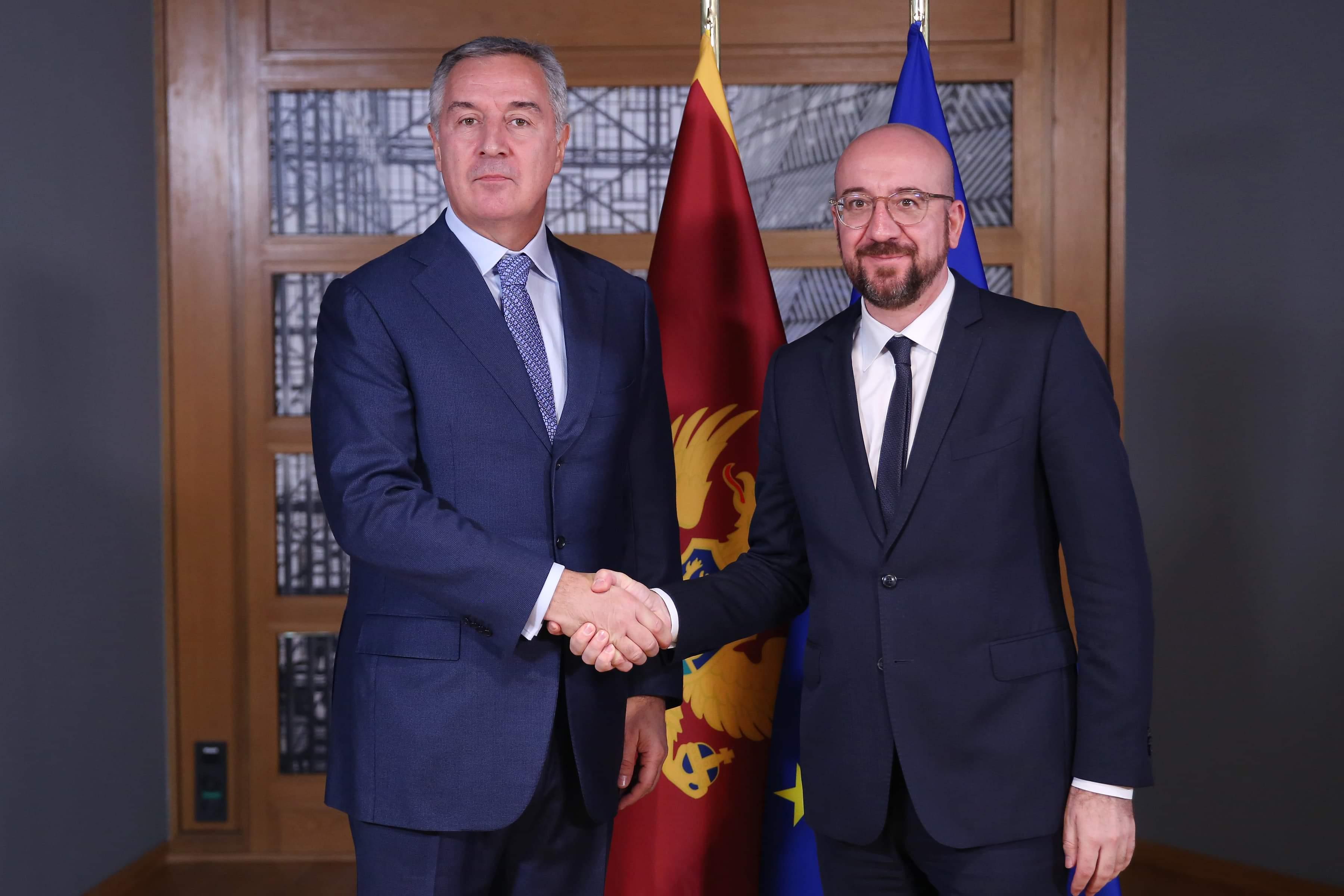 Đukanović met with Michel in Brussels