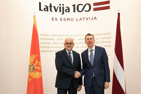 Montenegro: FM Darmanović on an official visit to Latvia