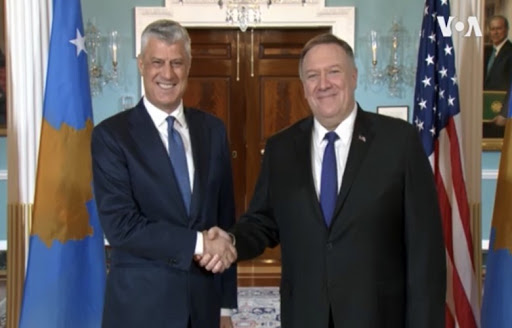 Kosovo: Thaci meets with Pompeo
