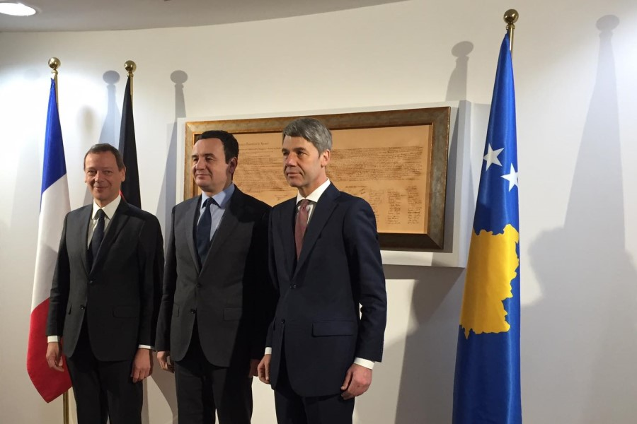 Kosovo: Kurti meets with French and German special envoys