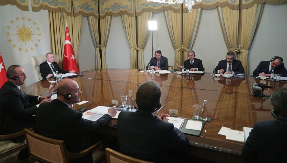 Turkey: Four-part teleconference held between Erdogan-Merkel-Macron-Johnson