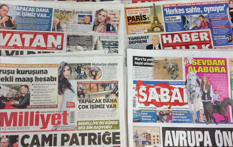 Turkey: Home-delivered newspapers over the weekend