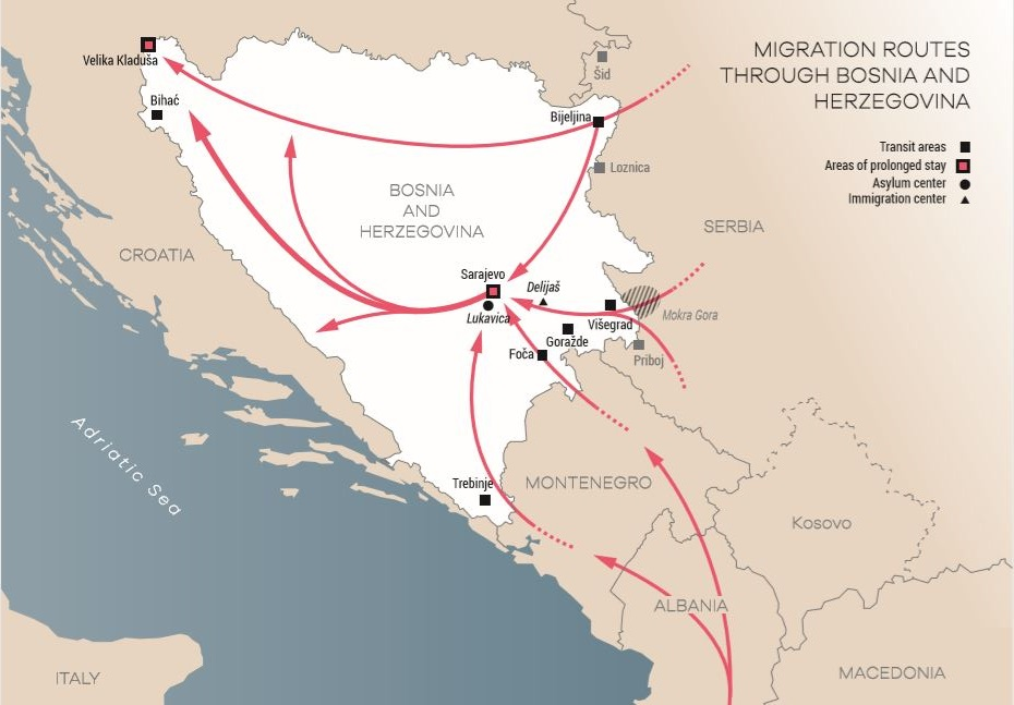 BiH: Minister of Security orders the deportation of 10 000 migrants