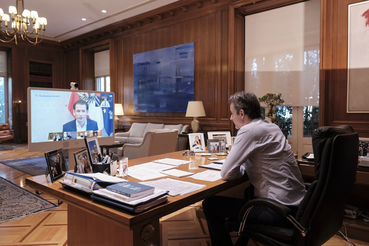 Greece: Mitsotakis participated in a teleconference on COVID-19