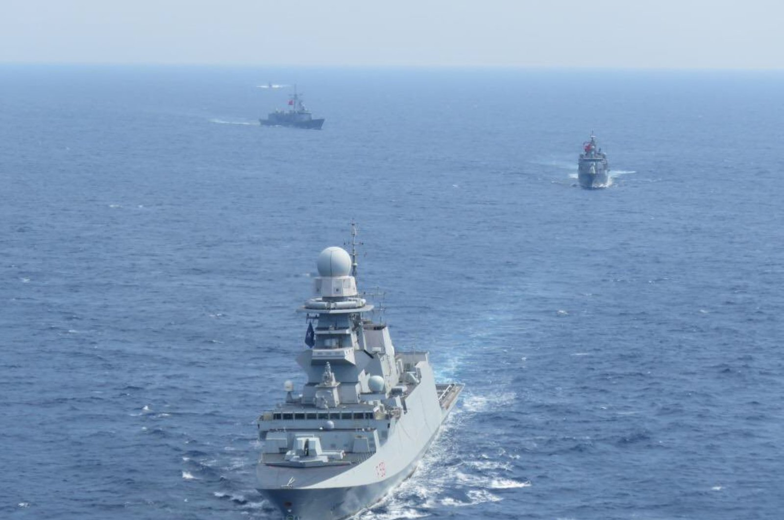 Turkey: Italian and Turkish frigates conduct joint training in the Eastern Mediterranean