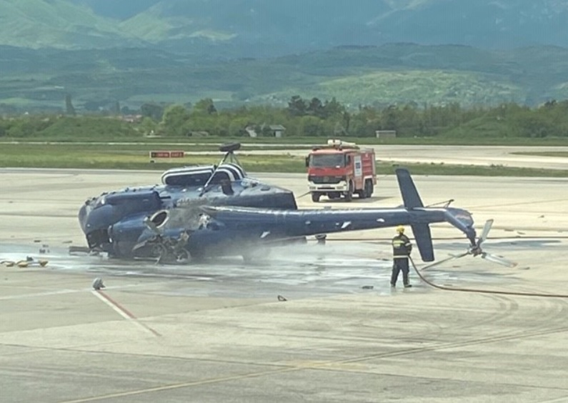 North Macedonia: Police helicopter capsizes