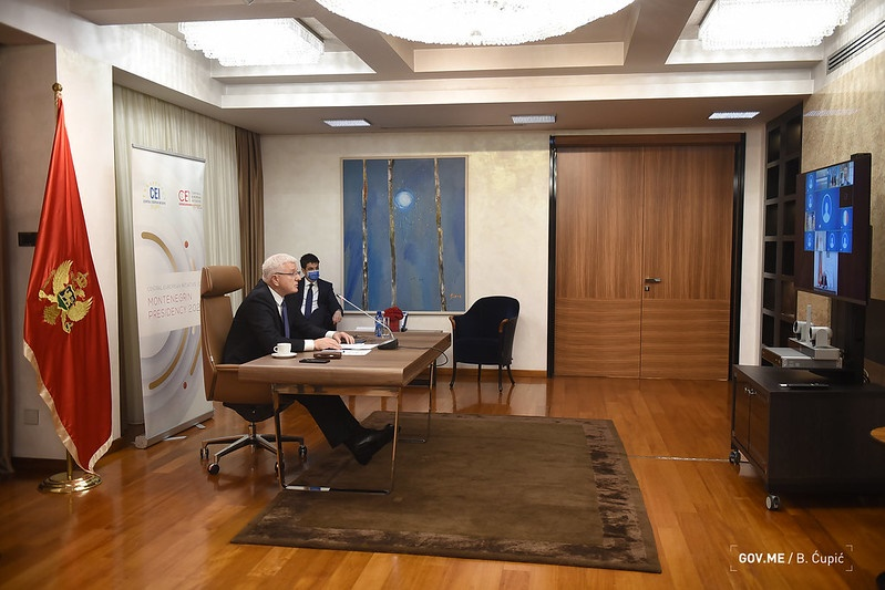 Montenegro: Marković chaired the CEI teleconference summit