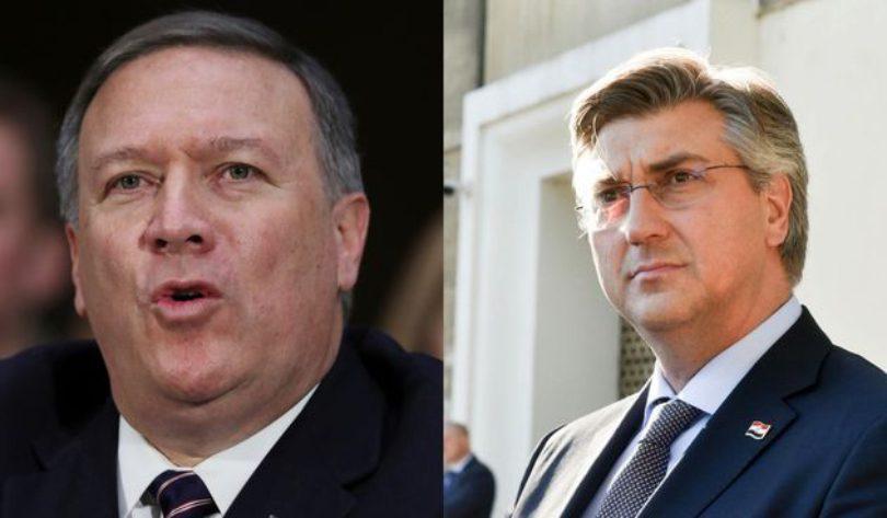 Croatia: PM Plenković had telephone conversation with US Secretary of State Pompeo