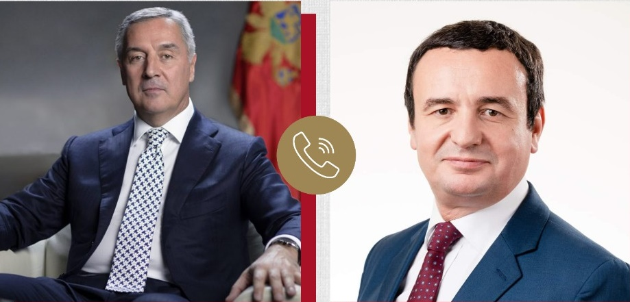Montenegro: Đukanović, Kurti had telephone conversation