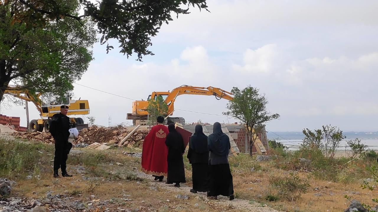 Montenegro: Konak in Saint Basil Monastery in Ulcinj demolished