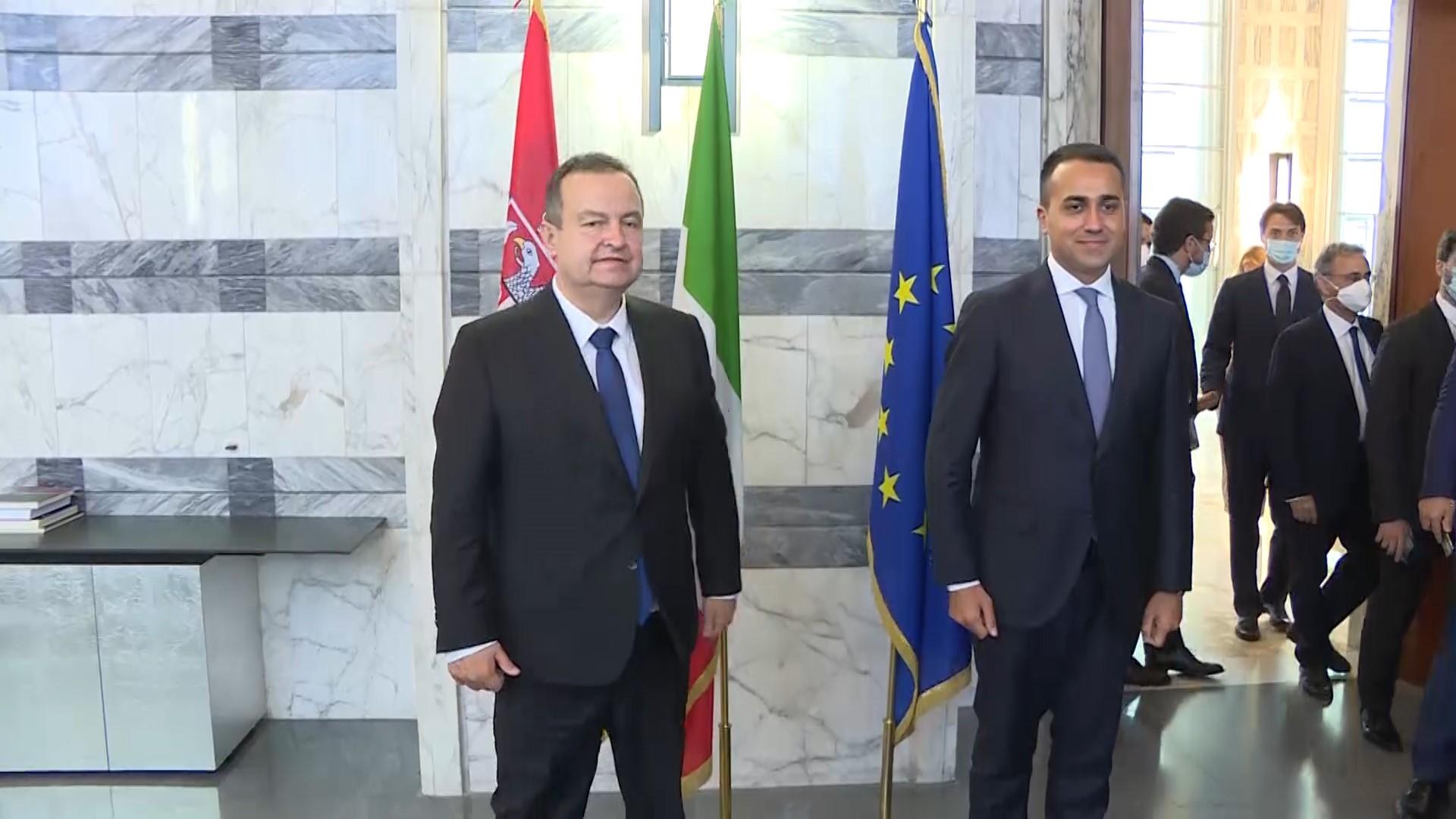 Serbia: Dačić meets with Di Maio in Rome