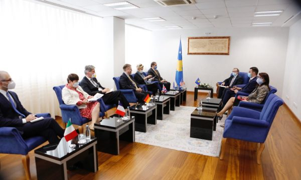 Kosovo: Hoti meets with Quint Ambassadors and KFOR Commander General