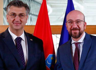 Croatia: Michel thanks Plenković on dedicated work during Croatian Presidency