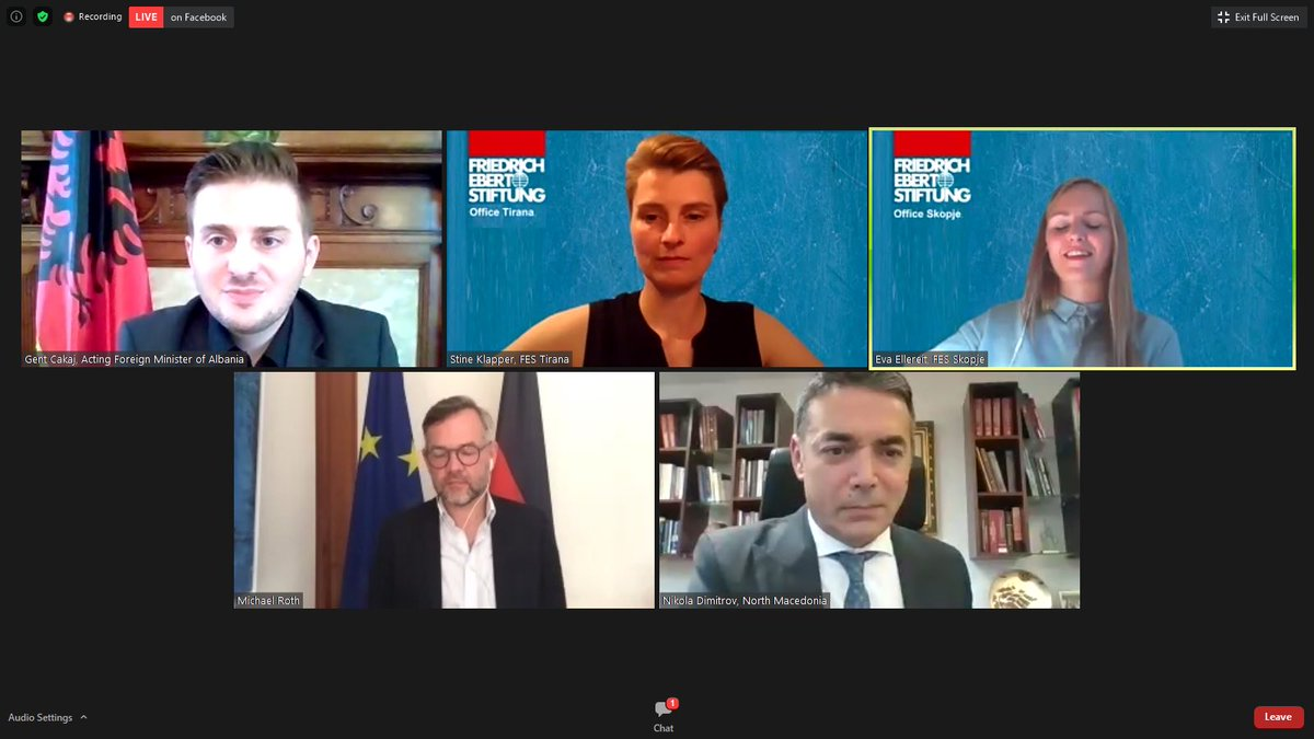 North Macedonia: Dimitrov attends videoconference with Roth and Cakaj