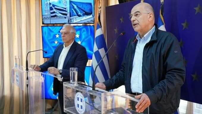 Greece: Dendias addresses Turkey while meeting with Borrell in Evros