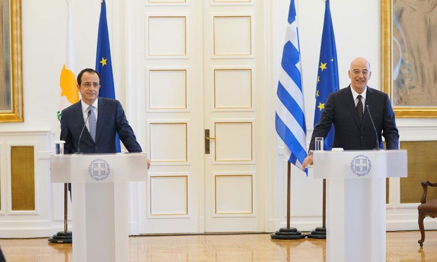 Greece: Dendias and Christodoulides discuss Turkey in Athens
