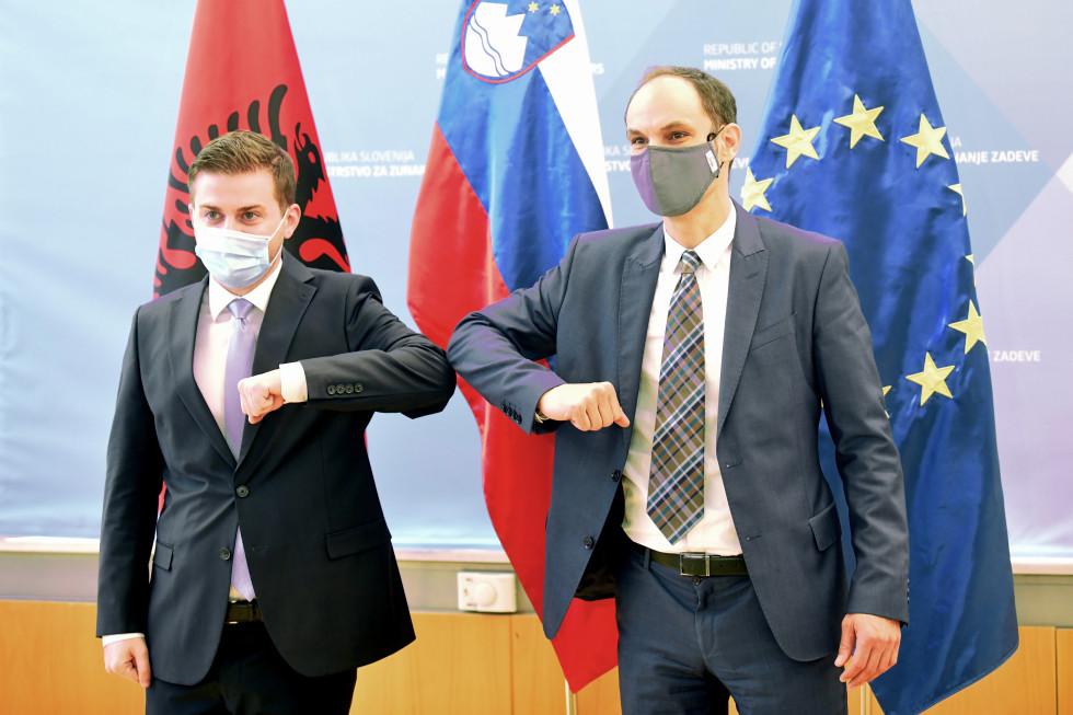 Slovenia: Logar, Cakaj met in Ljubljana – discussed COVID-19, Albania's EU accession course