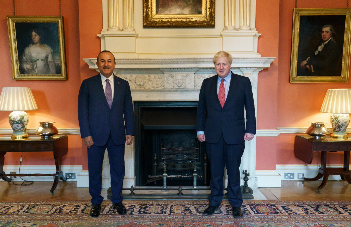 Turkey: Cavusoglu had meetings with Johnson, Raab, Donaldson and Morton in London