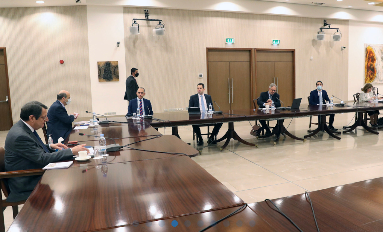 Cyprus: Anastasiades chaired a meeting to review the progress of ongoing projects