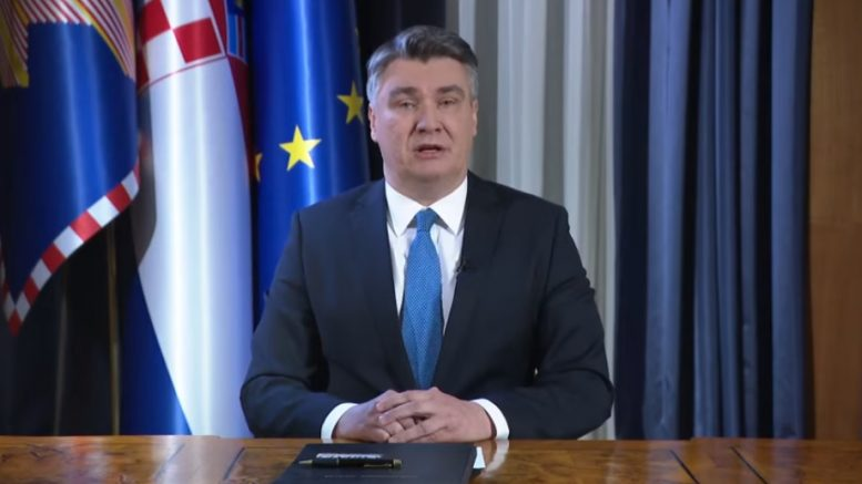 Croatia: President Milanović will not attend the inaugural session of Parliament